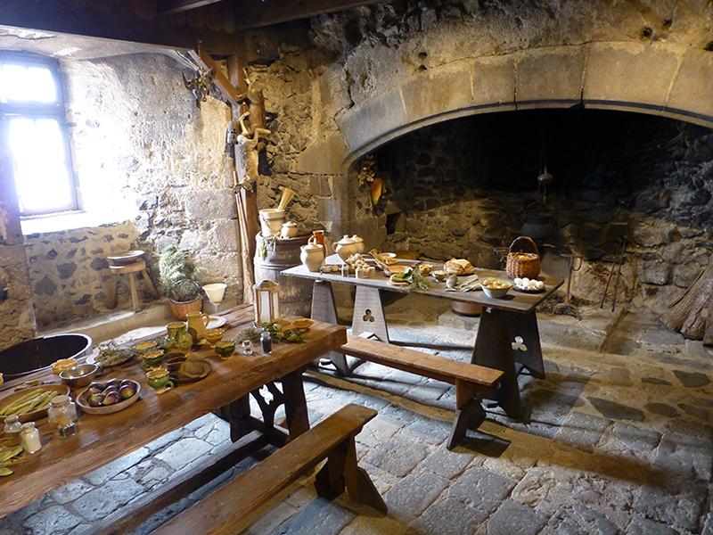 Keuken en eten in Kasteel Murol